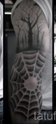 Тату паутина на локте – фото готовой татуировки – 20122015 № 52