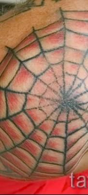 Тату паутина на локте – фото готовой татуировки – 20122015 № 9