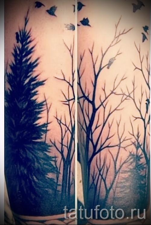 Фото тату дерево - рисункb для тату 09122015 № 076