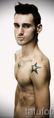 Звезда на ключице у парня – пример татуировки фото