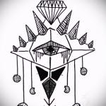 Эскизы тату алмаз - пример № 13