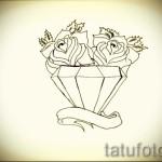 Эскизы тату алмаз - пример № 19