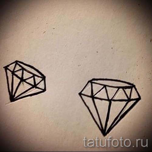 Эскизы тату алмаз - пример № 27