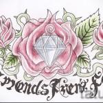 Эскизы тату алмаз - пример № 29