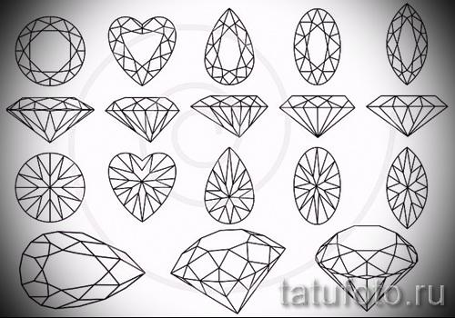 Эскизы тату алмаз - пример № 30