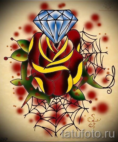 Эскизы тату алмаз - пример № 31