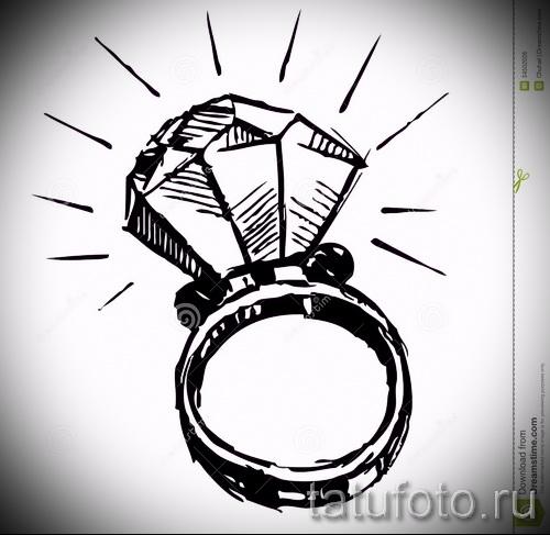 Эскизы тату алмаз - пример № 34