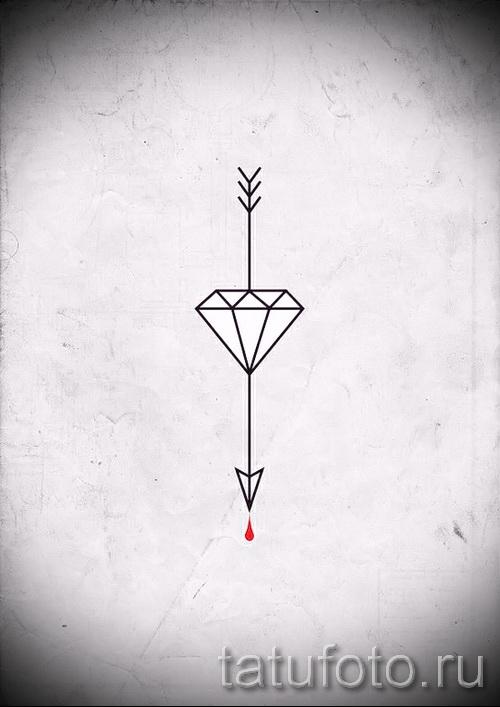 Эскизы тату алмаз - пример № 36