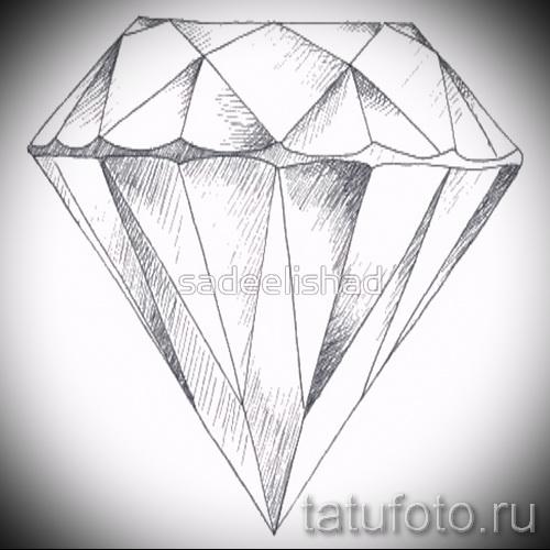 Эскизы тату алмаз - пример № 38
