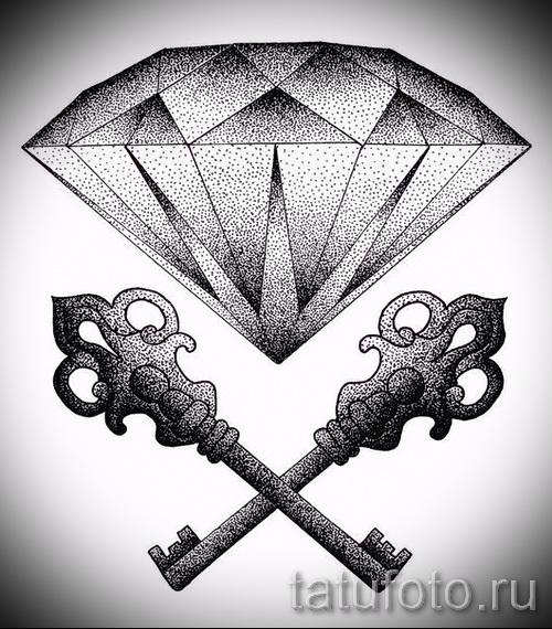 Эскизы тату алмаз - пример № 39