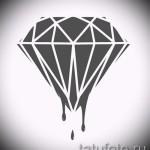 Эскизы тату алмаз - пример № 4