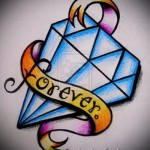Эскизы тату алмаз - пример № 42