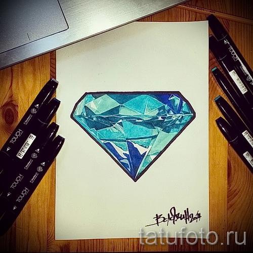Эскизы тату алмаз - пример № 45