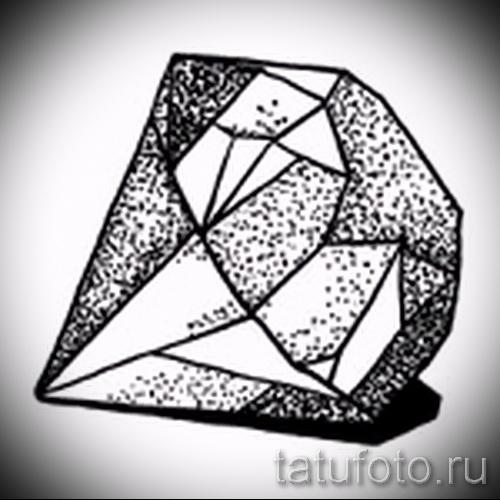 Эскизы тату алмаз - пример № 49