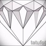 Эскизы тату алмаз - пример № 53