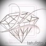 Эскизы тату алмаз - пример № 6