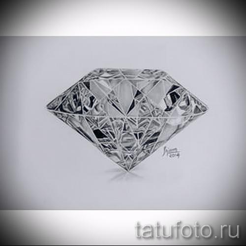 Эскизы тату алмаз - пример № 7