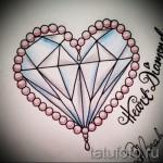 Эскизы тату алмаз - пример № 9