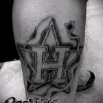 буква н тату - фото готовой татуировки - 20122015 № 3