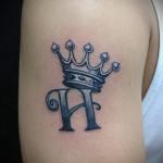 буква н тату - фото готовой татуировки - 20122015 № 5