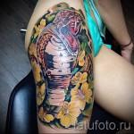 змея в цветах тату - фото вариант от 21122015 № 1