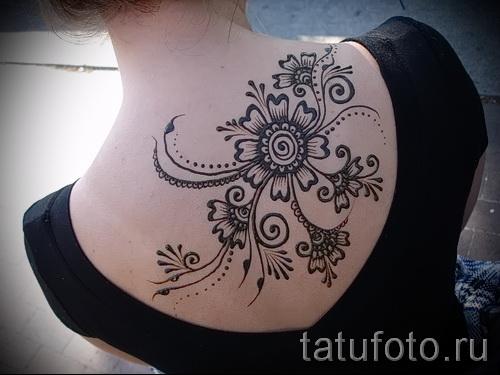 индийский цветок тату - фото классной татуировки от 21122015 № 1