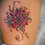 индийский цветок тату - фото классной татуировки от 21122015 № 2