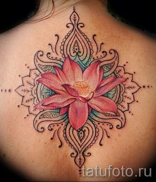 индийский цветок тату - фото классной татуировки от 21122015 № 3