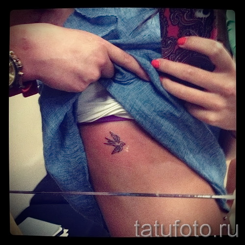 маленькая ласточка тату - фото пример 8