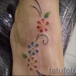 маленький цветок тату - фото вариант от 21122015 № 1
