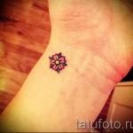 маленький цветок тату - фото вариант от 21122015 № 3