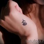 маленький цветок тату - фото вариант от 21122015 № 5