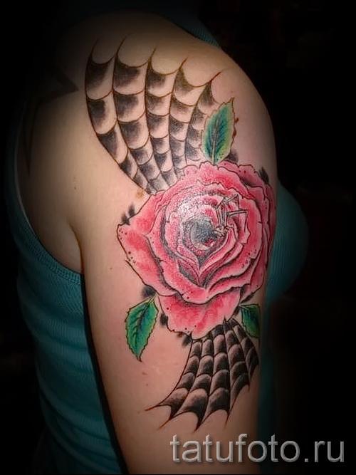 паутина на руке тату - фото готовой татуировки - 20122015 № 10