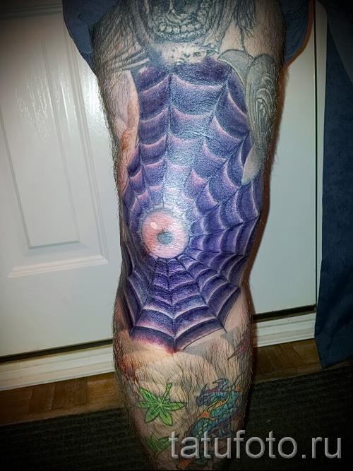 паутина на руке тату - фото готовой татуировки - 20122015 № 4