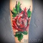 роза акварель тату - фото вариант от 15122015 № 1