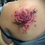 роза акварель тату - фото вариант от 15122015 № 11