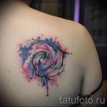 роза акварель тату - фото вариант от 15122015 № 12