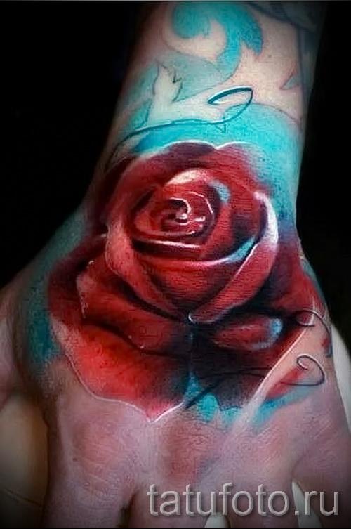 роза акварель тату - фото вариант от 15122015 № 13