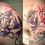 роза акварель тату - фото вариант от 15122015 № 16