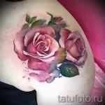 роза акварель тату - фото вариант от 15122015 № 3