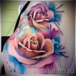 роза акварель тату - фото вариант от 15122015 № 4