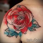 роза акварель тату - фото вариант от 15122015 № 5