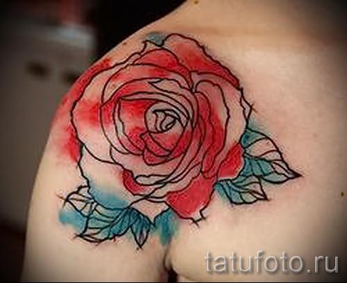 Тату картинки на руке розы