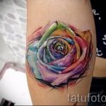 роза акварель тату - фото вариант от 15122015 № 6