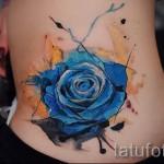 роза акварель тату - фото вариант от 15122015 № 8