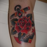 розы олд скул тату - фото вариант от 15122015 № 11