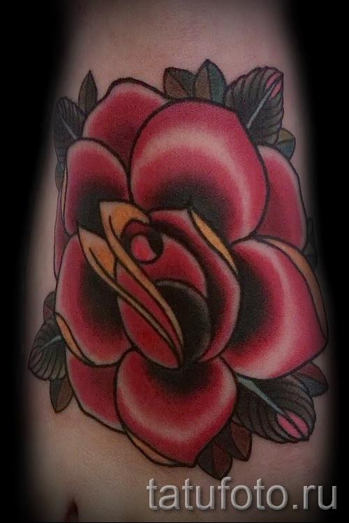 розы олд скул тату - фото вариант от 15122015 № 12