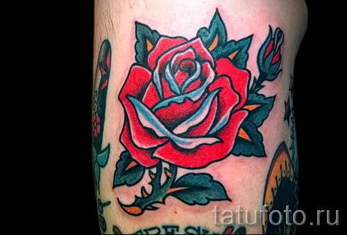 розы олд скул тату - фото вариант от 15122015 № 15