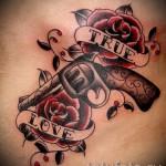 розы олд скул тату - фото вариант от 15122015 № 18