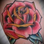 розы олд скул тату - фото вариант от 15122015 № 2